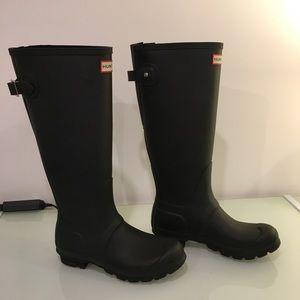 Hunter original black adjustable rain boots size 7